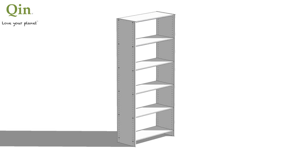 Qin Q5 Bamboo Shelf - Basic 800 - Stained Light White Color