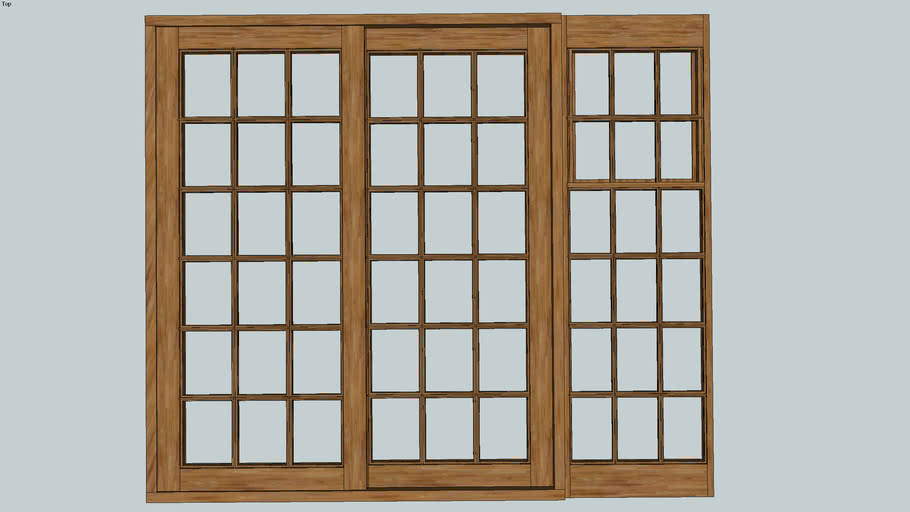 Cottage Pane window wood