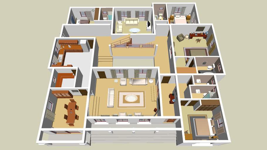 5 Bedroom Bungalow 3d Warehouse