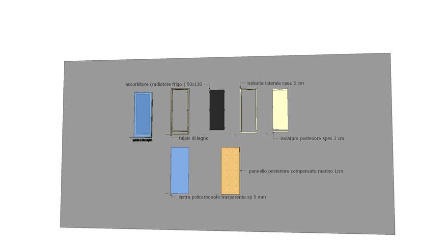 Pannello solare termico ad aria