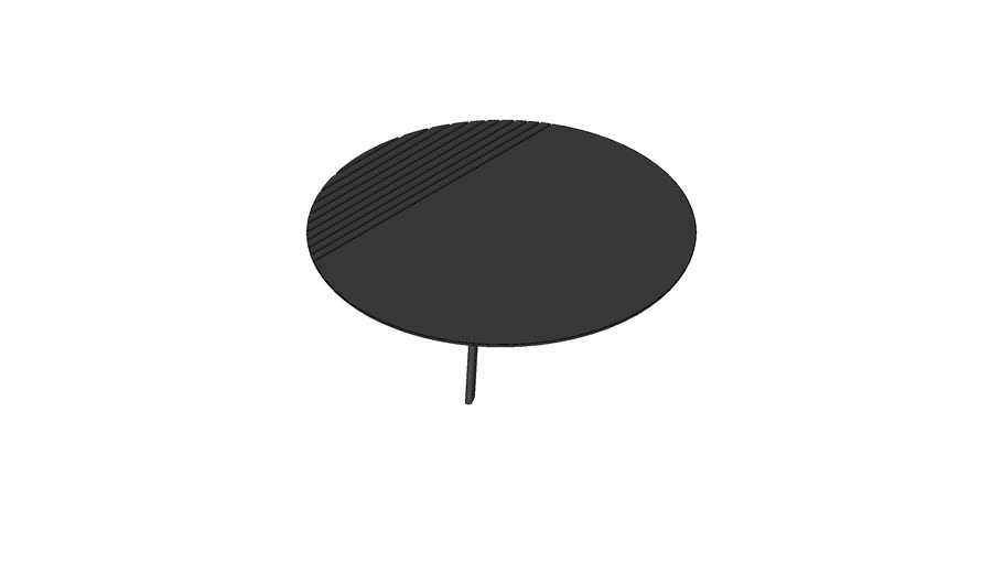 Groove side table Large