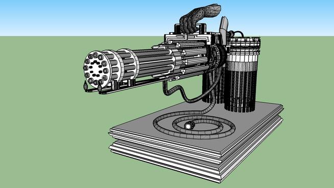 machine gun/ flamethrower