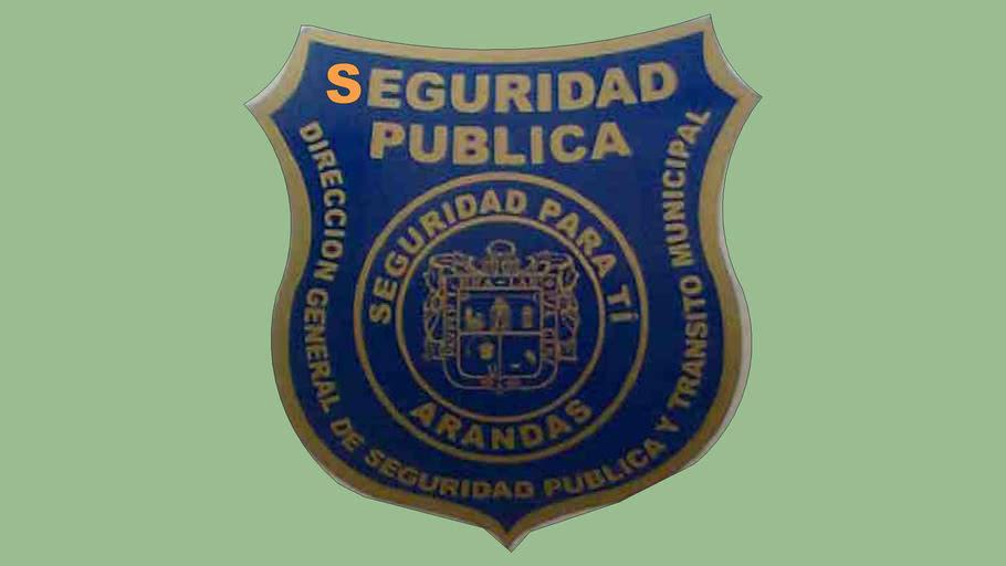 ROTULO DE LA POLICIA  MUNICIPAL  segruidad publica arandas jalisco mexico