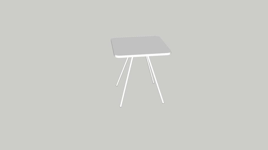 Oasiq Attol Aluminium Square Side Table Tall