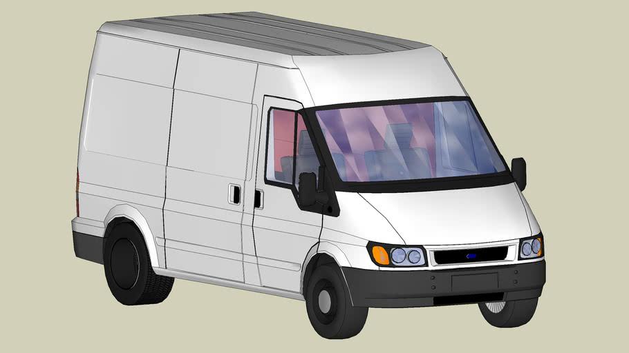 "Ford ""Transit"" Van 2006, Chinese Version; improved 3D model file"