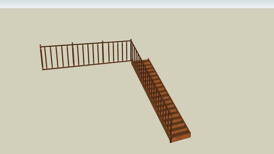 Escalier et rembarde