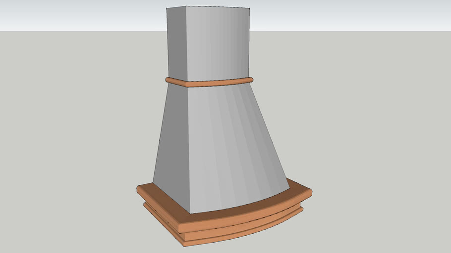 Vera kjøkkenventilator 60cm, stål