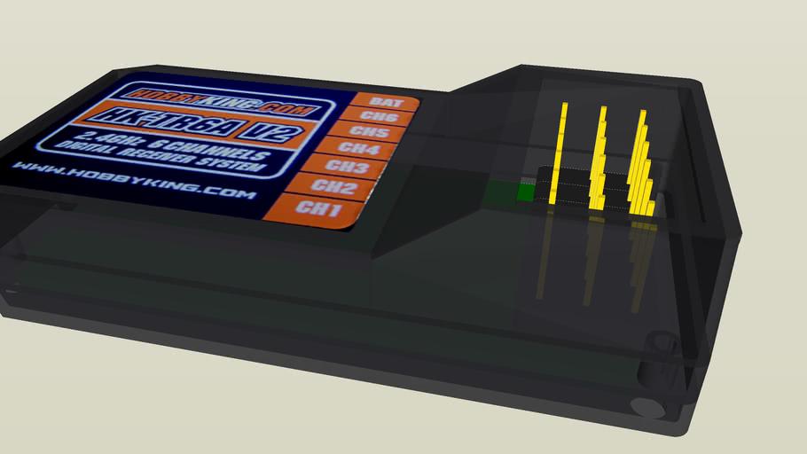 HK-TR6A_V2 2.4Ghz Receiver (Metric x 10)