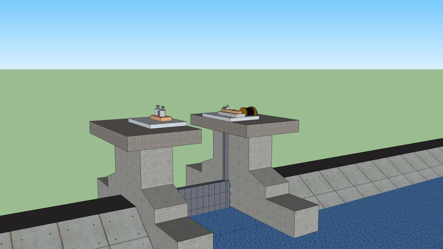 水門+堤防