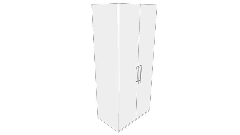 900 Wardrobe Module with Two Shutter, Two Inner Drawer, One Horizontal Shelf 900X585X2100 CPU_CPUU000318