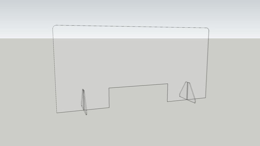 Loftwall Lite Counter Shield Large