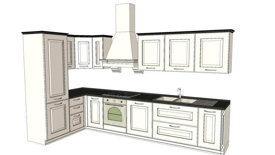 Classic kitchen - Cucina classica 3.64 x 1.70