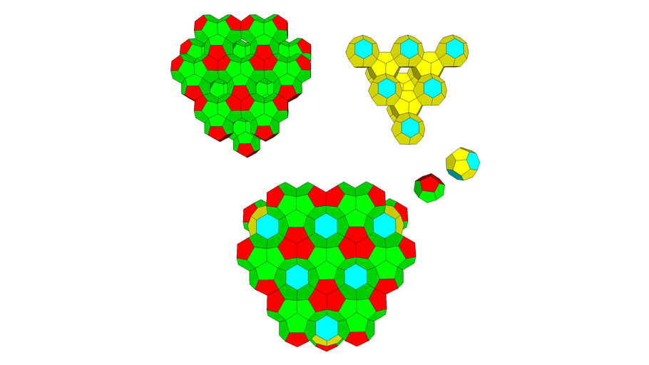 DODECAHEDRON TETRAHEDRAL PACKING WITH CENTER BLOCK