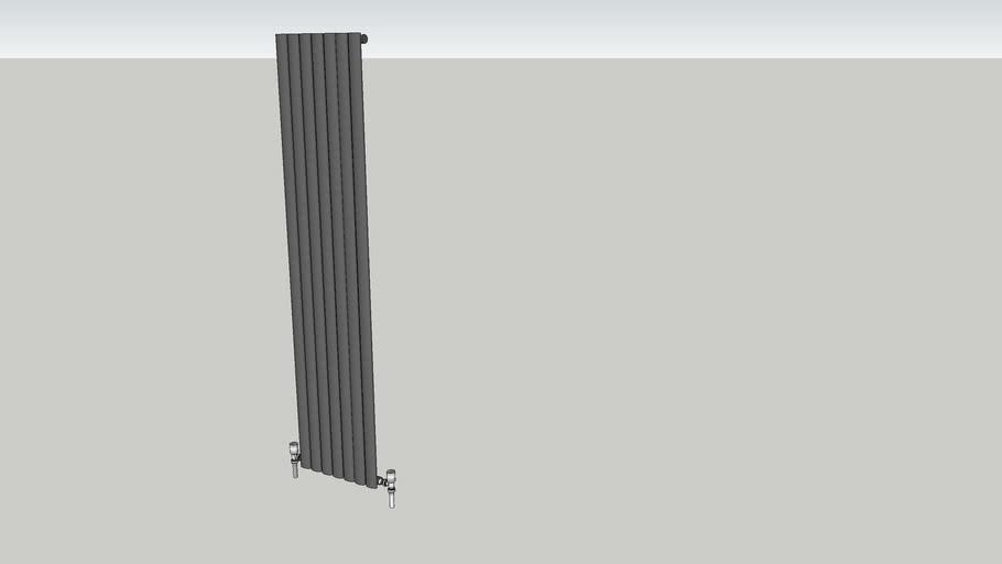 Reina Neva Vertical Single Anthracite Column Radiator 1800 x 413