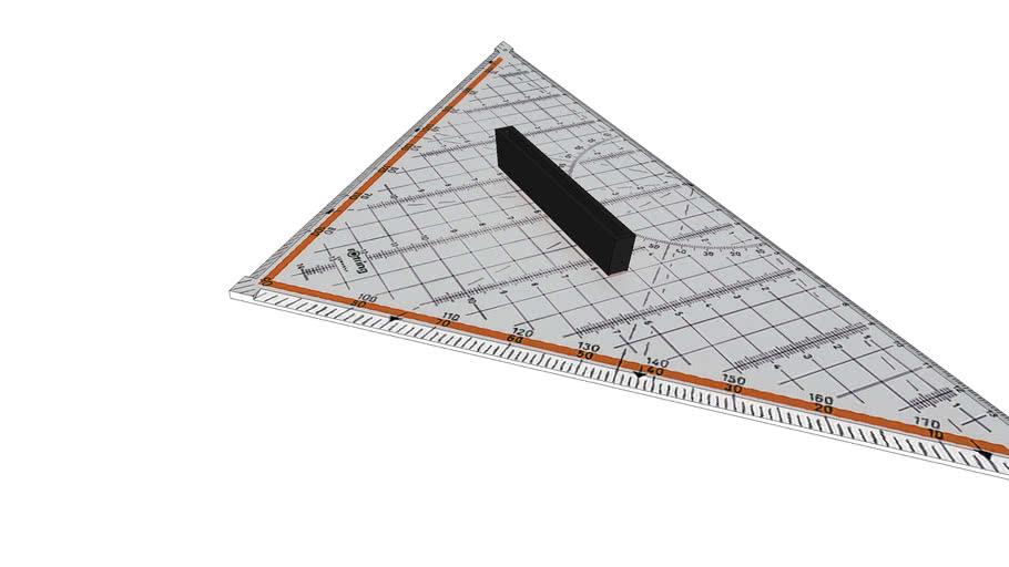 Rotring 24 cm drafting set square