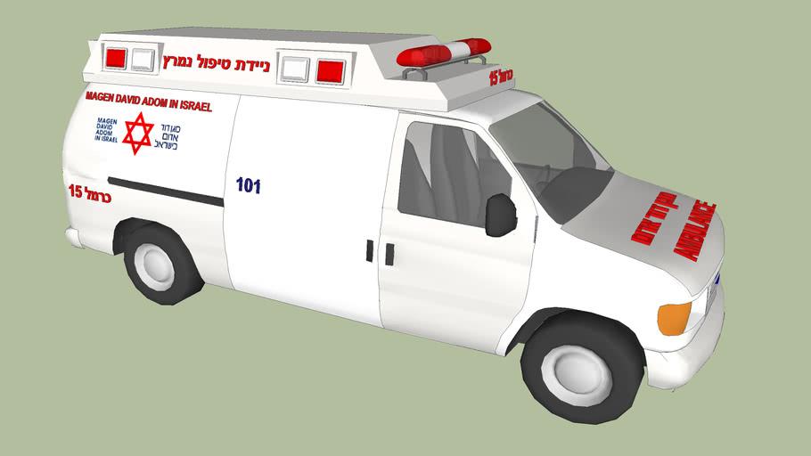 Magen David Adom Ambulance