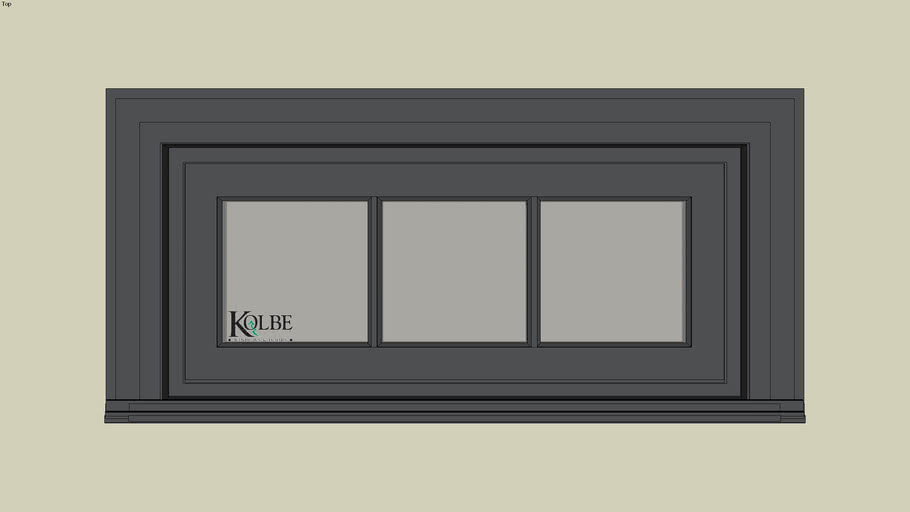 """Kolbe Ultra Garden-Aire Rectangular Transoms GAUT3316 (F.S. 3'-2 1/2"""" x 1'-5 1/2"""" R.O.3'-3"""" x 1'-6"""")"""