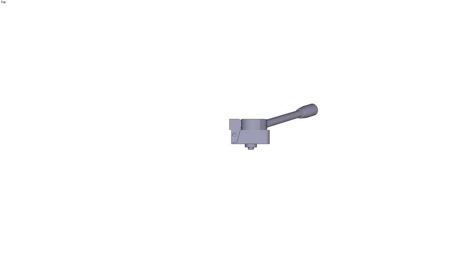 Horizontal adjustable cam clamp - Form B - right rotation - 38.5 x 25 x 25 mm