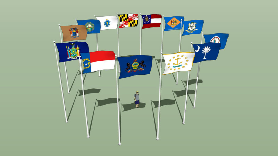flags of the original 13 states