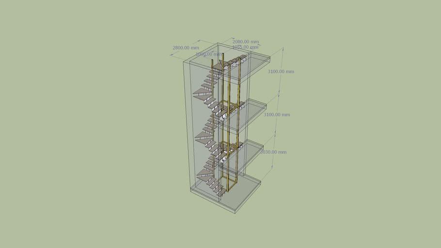 Escalera Metálica interior 3x3