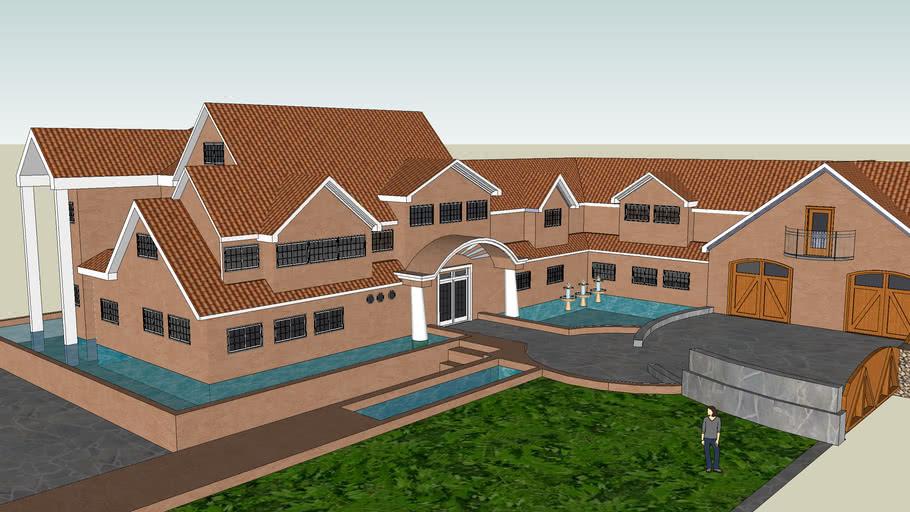 a huge estate home