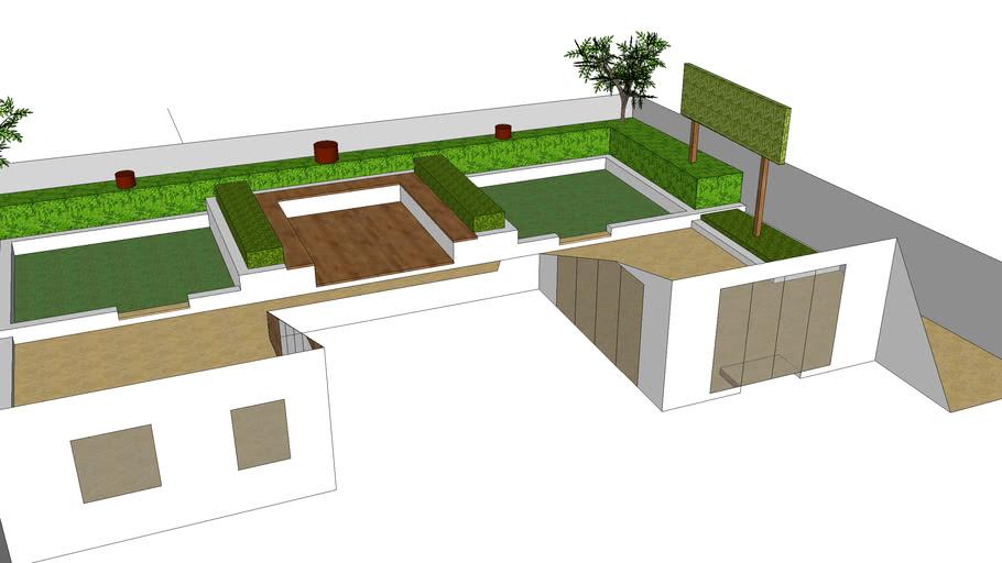 contemporary town garden design