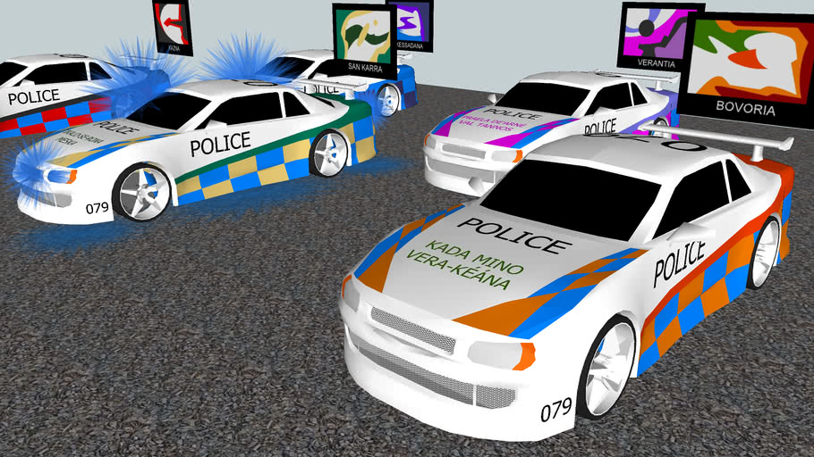 Kia Danéos regional police cars