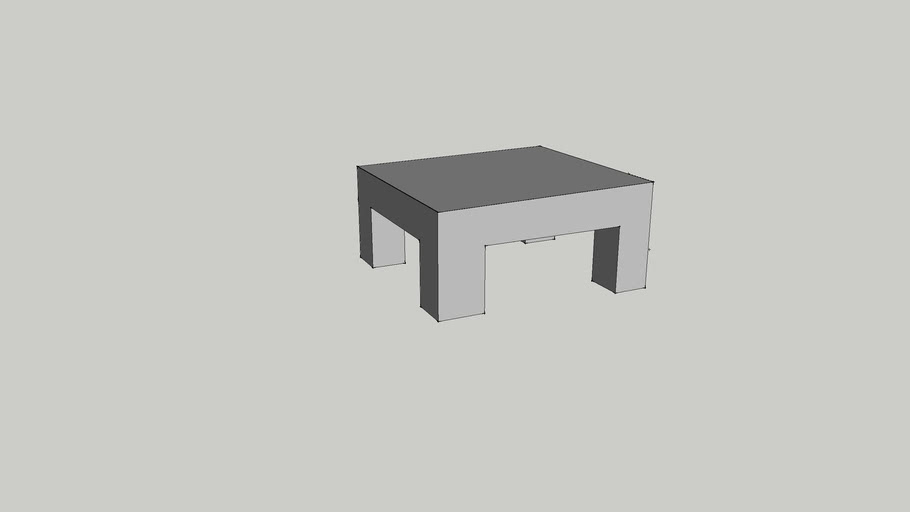 Table Basse En Beton Cire Version 2 3d Warehouse