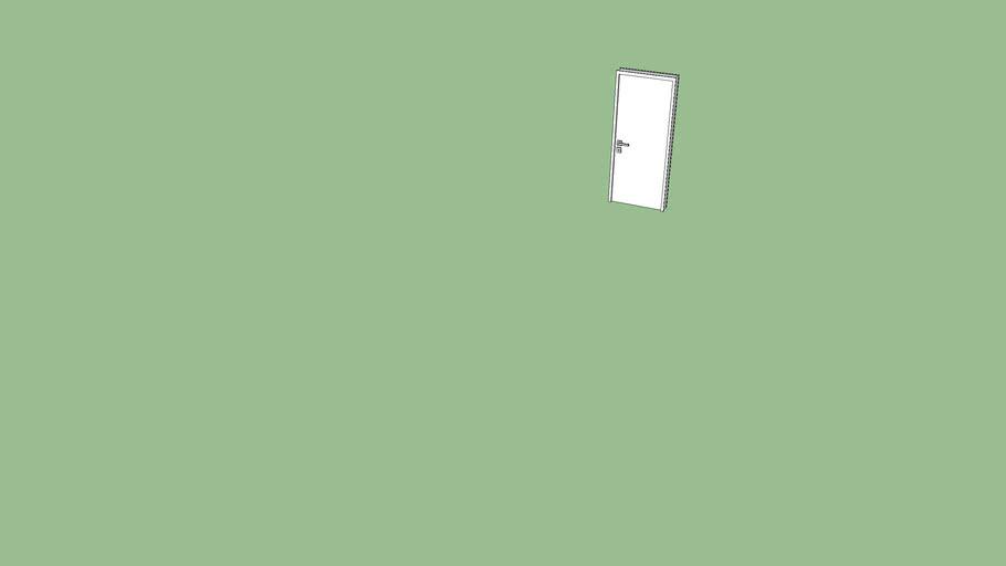 porta branca interna
