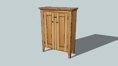 New England Pine Cupboard