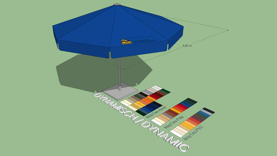 May Filius 4m Round Market Umbrella