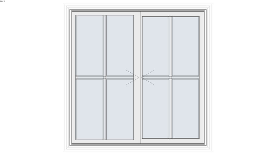 Tuscany® Series Double Horizontal Sliding Window