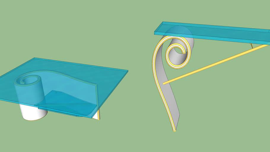 table et  console escargot