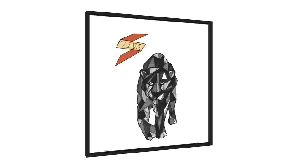 Quadro Felino - Série VIVA - Galeria9, por Felipe BIT