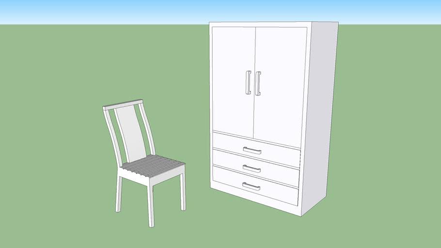 wardorbe + chair