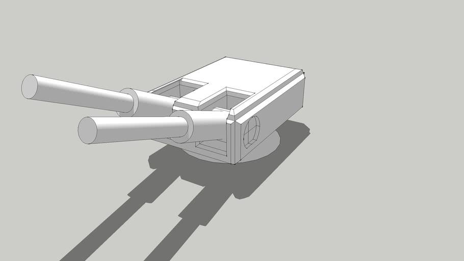 Simple posable light laser cannon