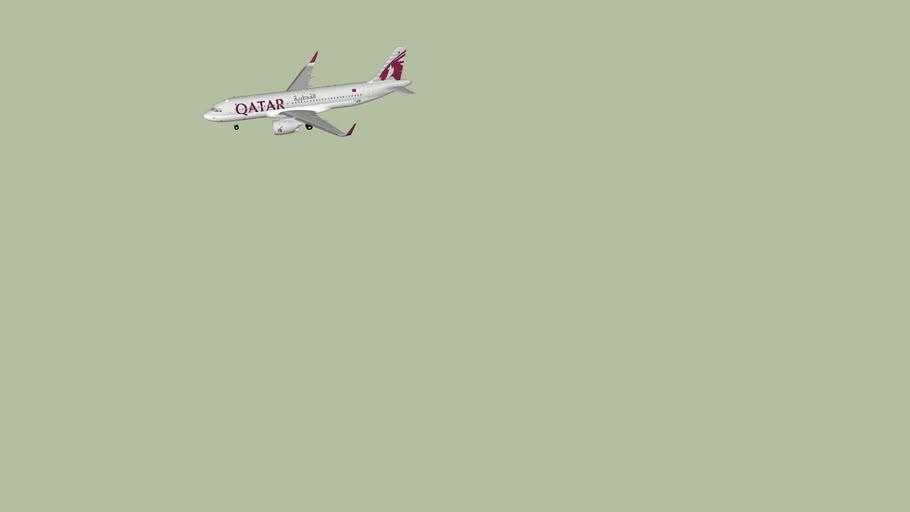 Qatar Airways A320NEO with 2 Class Cabin
