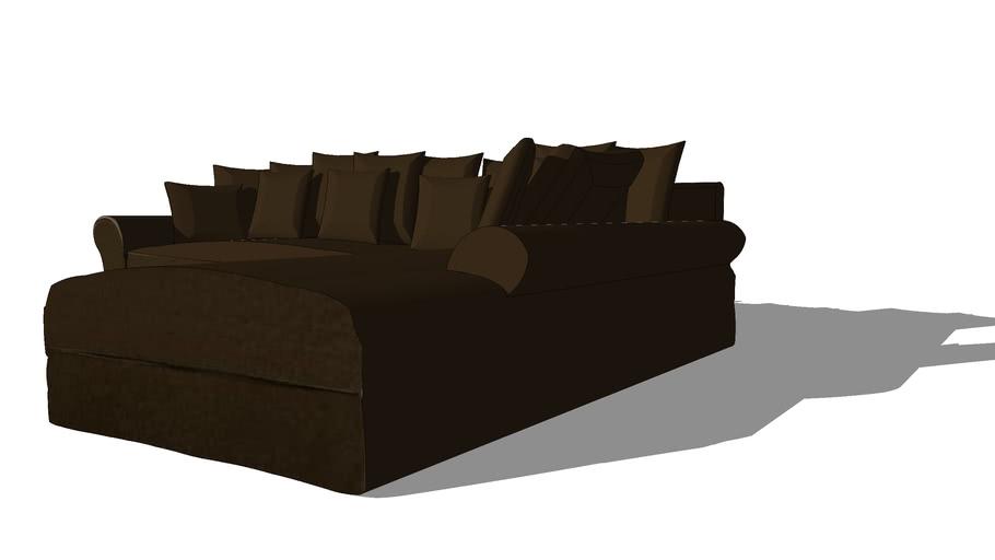 Canapé d'angle 6p fixe chocolat BASTIDE,Maisons du monde, 50180583,1190€