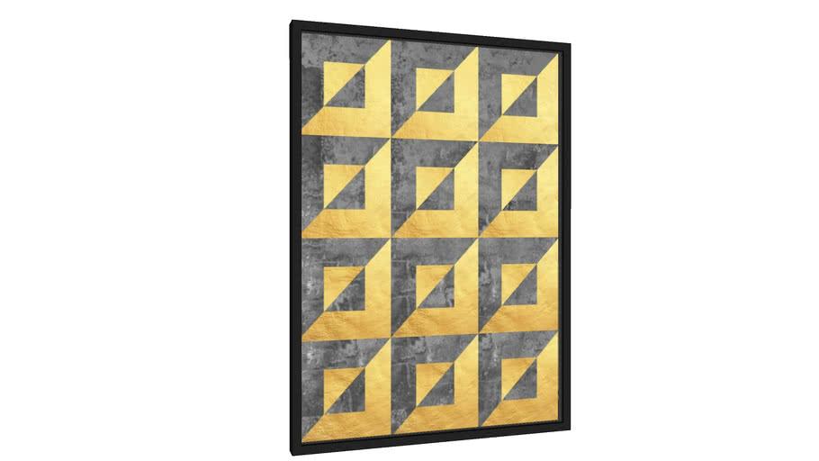 Quadro Geometria dourada - Galeria9, por Arte Natural