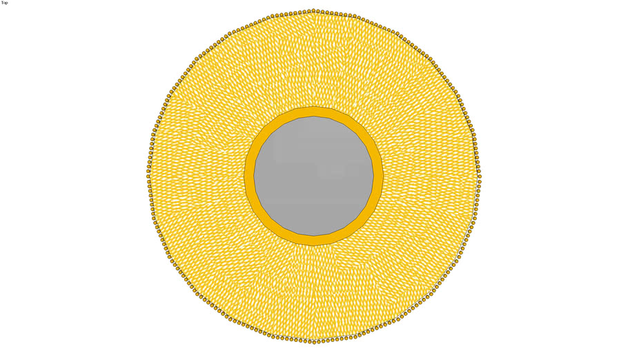 HOME PLUS ESPEJO CIRCULAR 34115 MARCO TIPO RED DORADO (74 DIAM)