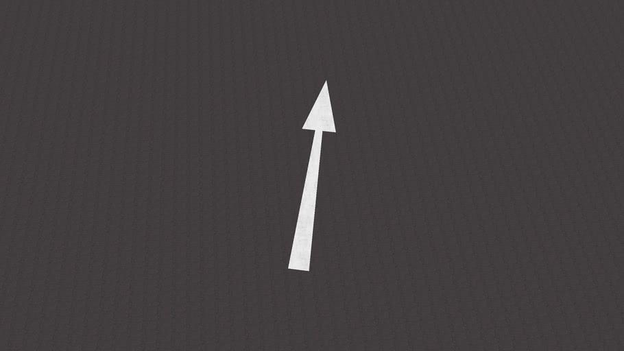 Road Marking - Ahead Directional Arrow