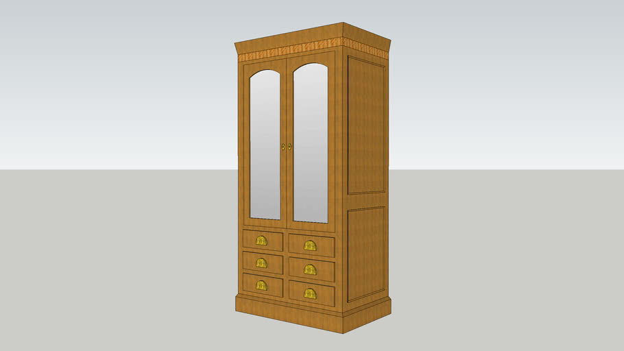 Titanic First Class Cabin Wardrobe Furniture