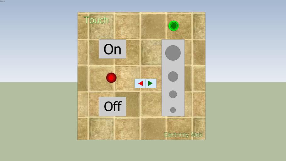 Interruptor Touch de Electricity Web creado por Diego Vargas (Conceptual)