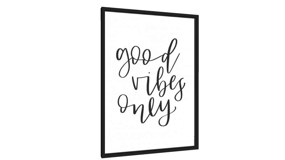 Quadro Good Vibes Only - Galeria9, por Rachel Moya