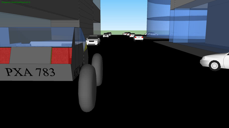 SketchyPhysics Driveable Car II Urban (Previous model, MADE MORE FUN!!!)