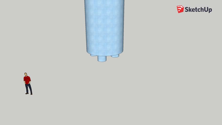 La botella de plastico