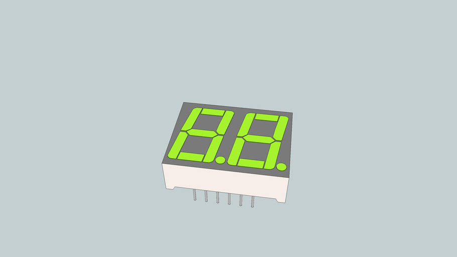 Dual package 7-segment display