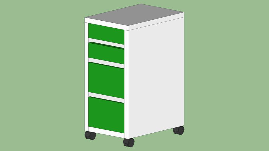 Ikea Cassettiera Con Rotelle.Cassettiera Con Rotelle Mike Ikea 3d Warehouse