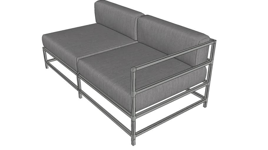 Source Furniture SF-3209-122 Delano Right Arm Loveseat