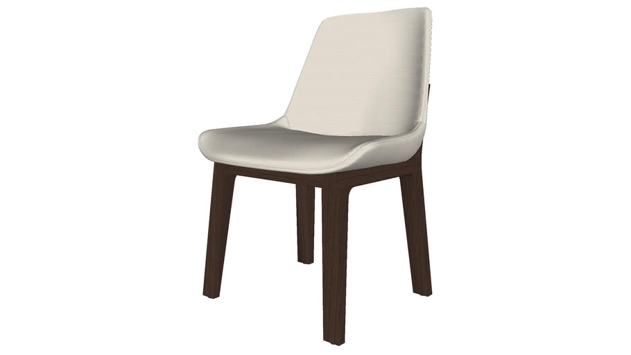 Mercer Dining Chair in Silver Birch Fabric by Modloft